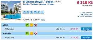 All inclusive dovolená v Sousse za 6 310 Kč