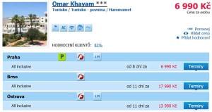 Tunisko Hammamet: all inklusive dovolená za 6 990 Kč